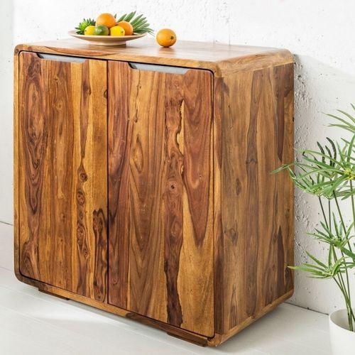 Barschrank DAIPUR Sheesham massiv Holz gewachst 100cm x 90cm - 3