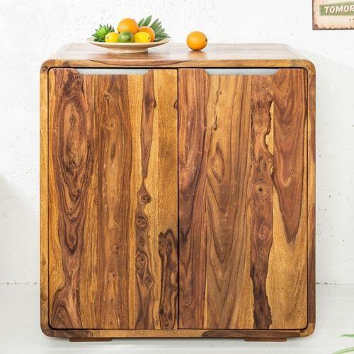 Barschrank DAIPUR Sheesham massiv Holz gewachst 100cm x 90cm - 4