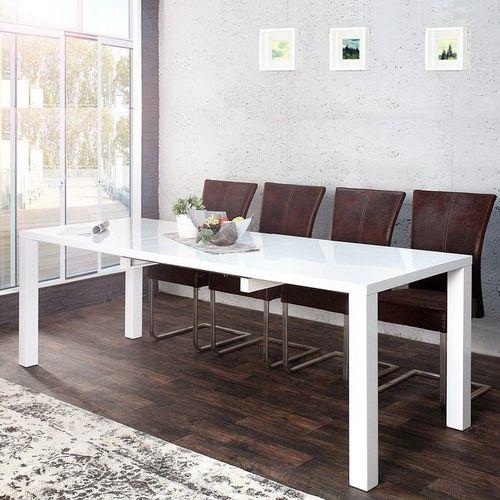 Esstisch LUCIA Weiß Hochglanz 160-200-240cm ausziehbar - 1
