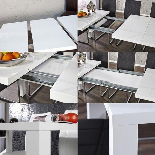 Esstisch LUCIA Weiß Hochglanz 160-200-240cm ausziehbar - 3