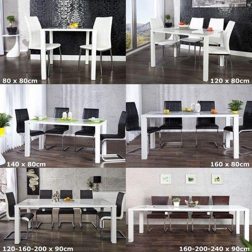 Esstisch LUCIA Weiß Hochglanz 160-200-240cm ausziehbar - 4