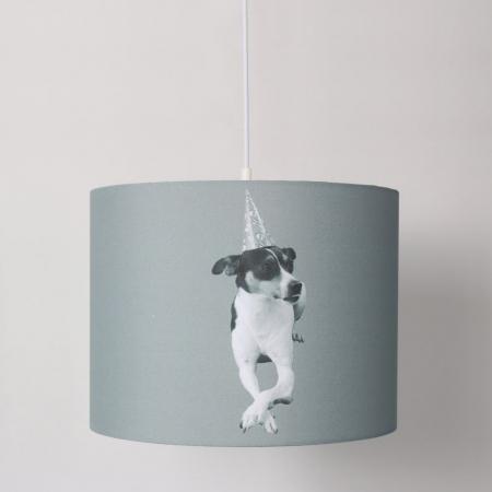 Hängelampe Spanischer Hund Bodeguero Andaluz OSKAR Grau 35cm Ø - 1