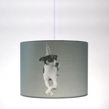 Hängelampe Spanischer Hund Bodeguero Andaluz OSKAR Grau 35cm Ø - 2