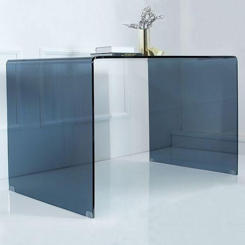 Glas-Schreibtisch MAYFAIR Anthrazit transparent aus einem Guss 120cm x 70cm - 1