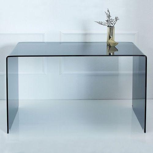 Glas-Schreibtisch MAYFAIR Anthrazit transparent aus einem Guss 120cm x 70cm - 2