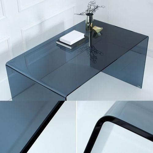 Glas-Schreibtisch MAYFAIR Anthrazit transparent aus einem Guss 120cm x 70cm - 3