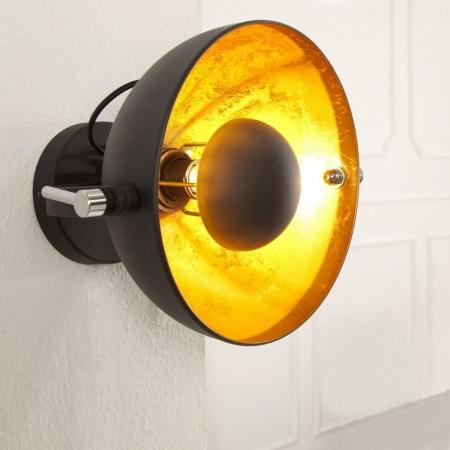 Wandlampe SPOT Schwarz-Gold 30cm Ø verstellbar - 1