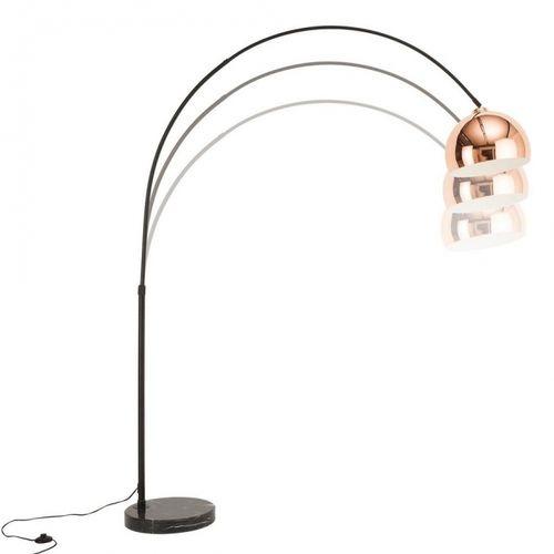 Bogenlampe LUXX Rosegold glänzend mit Marmorfuß Schwarz 170-210cm Höhe - 4