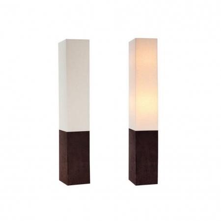 Stehlampe LOOP Beige aus Leinen & Kunstleder eckig 160cm Höhe - 2