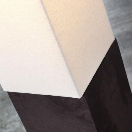 Stehlampe LOOP Beige aus Leinen & Kunstleder eckig 160cm Höhe - 3