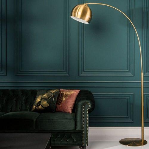 Bogenlampe LUXX Gold glänzend mit Goldfuß 205cm Höhe - 1