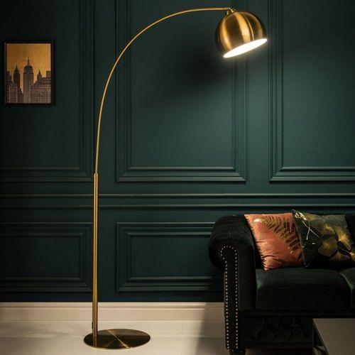 Bogenlampe LUXX Gold glänzend mit Goldfuß 205cm Höhe - 2