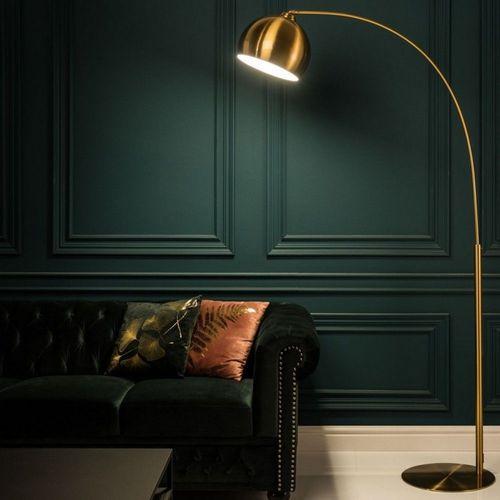 Bogenlampe LUXX Gold glänzend mit Goldfuß 205cm Höhe - 3