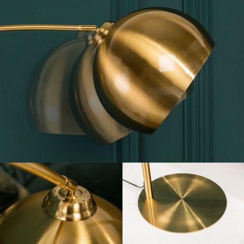 Bogenlampe LUXX Gold glänzend mit Goldfuß 205cm Höhe - 5