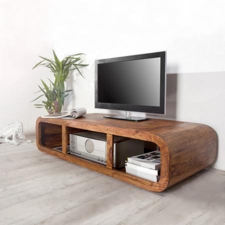 TV-Tisch DAIPUR Sheesham massiv Holz gewachst 100cm - 2