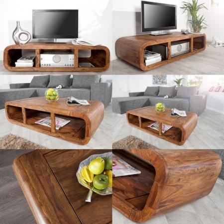 TV-Tisch DAIPUR Sheesham massiv Holz gewachst 100cm - 3