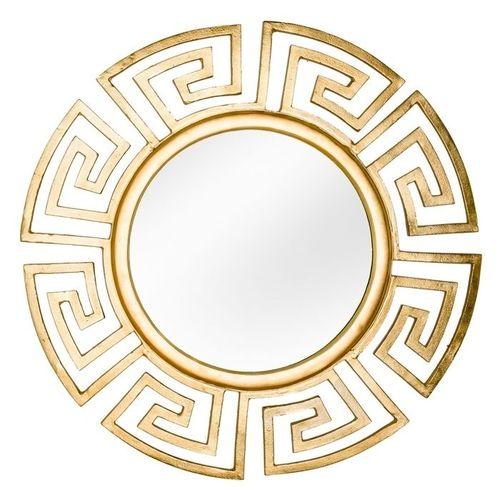 Beeindruckender Wandspiegel OLYMP Gold mit griechischen Ornamenten 85cm Ø - 2