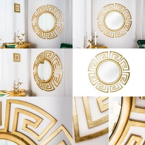 Beeindruckender Wandspiegel OLYMP Gold mit griechischen Ornamenten 85cm Ø - 3