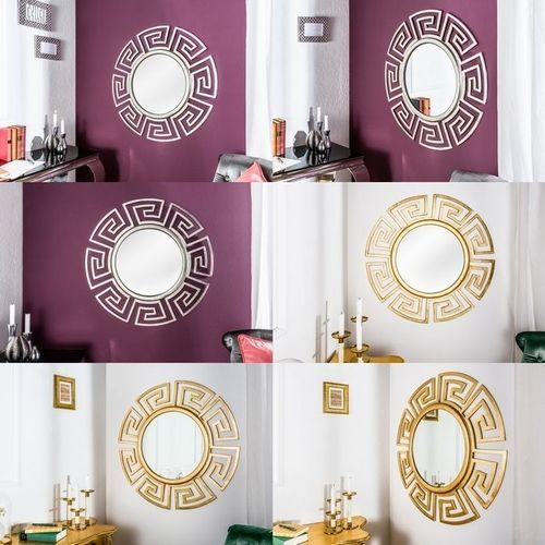 Beeindruckender Wandspiegel OLYMP Gold mit griechischen Ornamenten 85cm Ø - 4
