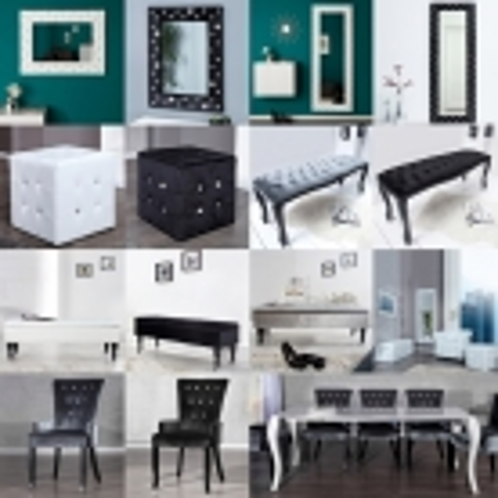 Sitzbank JOSEPHINA Grau aus Samtstoff mit Knöpfen in Barock-Design 115cm - 4