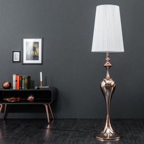 Stehlampe SCARLET Weiß mit Standfuß aus Rosegold glänzendem Metall 160cm Höhe - 2