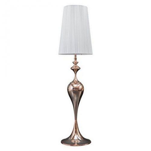 Stehlampe SCARLET Weiß mit Standfuß aus Rosegold glänzendem Metall 160cm Höhe - 3