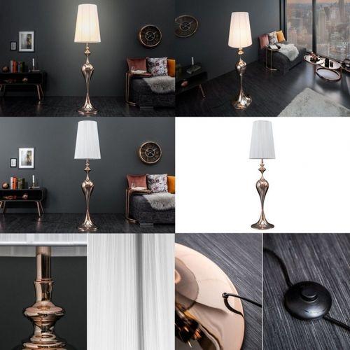 Stehlampe SCARLET Weiß mit Standfuß aus Rosegold glänzendem Metall 160cm Höhe - 4