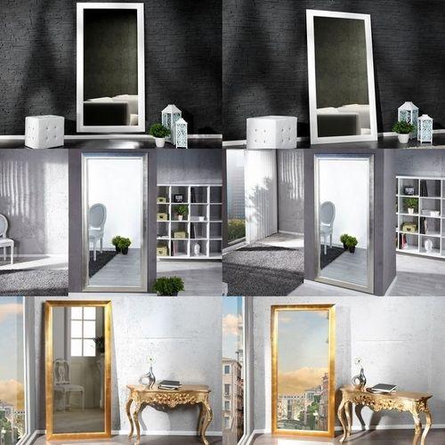 XXL Zeitlos Romantischer Wandspiegel LILLE Weiß in Klassik-Design 180cm x 85cm | Vertikal oder horizontal aufhängbar! - 4