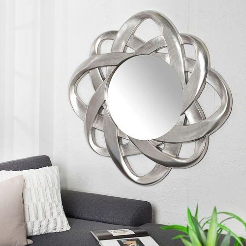 Faszinierender Wandspiegel FLEUR Silber 90cm Ø - 1