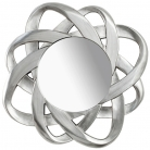 Faszinierender Wandspiegel FLEUR Silber 90cm Ø - 2