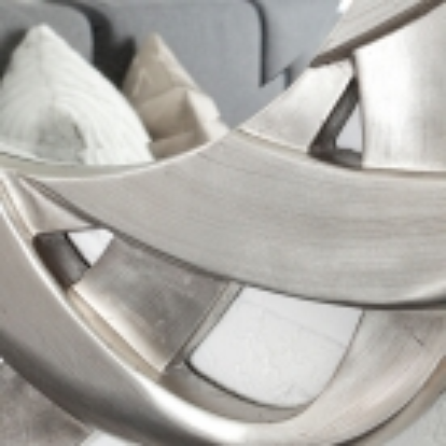 Faszinierender Wandspiegel FLEUR Silber 90cm Ø - 3