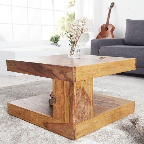 Couchtisch AGRA Sheesham massiv Holz gewachst 60cm x 60cm - 2