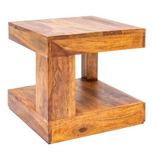 Couchtisch AGRA Sheesham massiv Holz gewachst 45cm x 45cm - 3