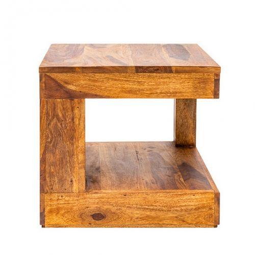 Couchtisch AGRA Sheesham massiv Holz gewachst 45cm x 45cm - 4