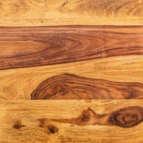 Couchtisch AGRA Sheesham massiv Holz gewachst 45cm x 45cm - 5