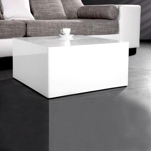 Couchtisch BLOC Weiß Hochglanz 50cm - 1