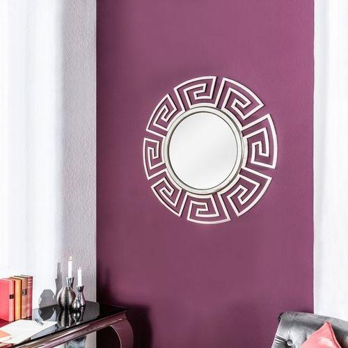 Beeindruckender Wandspiegel OLYMP Silber mit griechischen Ornamenten 85cm Ø - 1