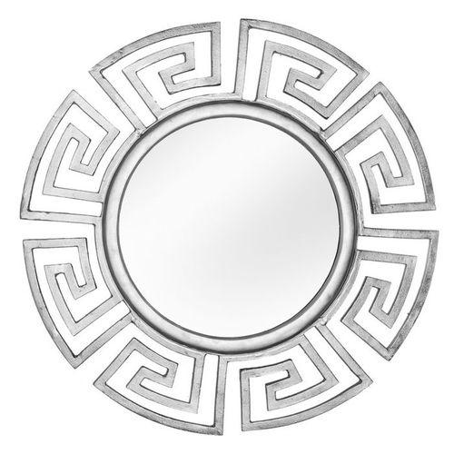 Beeindruckender Wandspiegel OLYMP Silber mit griechischen Ornamenten 85cm Ø - 2