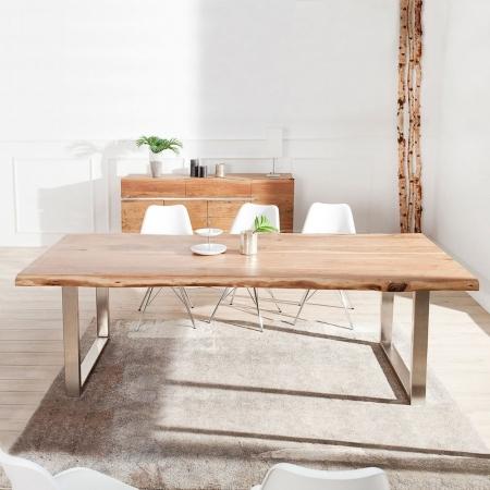 Esstisch AMBA Natur massiv Akazienholz 220cm & 60mm Tischplatte - 2
