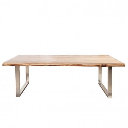 Esstisch AMBA Natur massiv Akazienholz 220cm & 60mm Tischplatte - 4