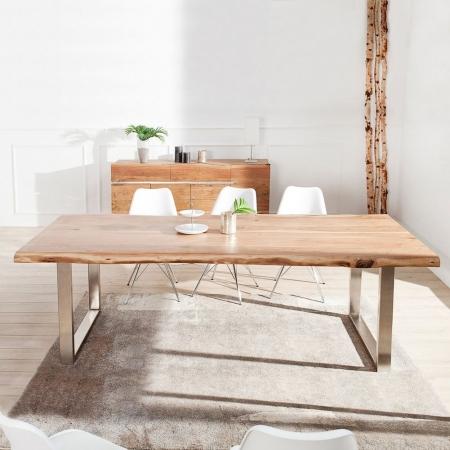 Esstisch AMBA Natur massiv Akazienholz 240cm & 60mm Tischplatte - 2
