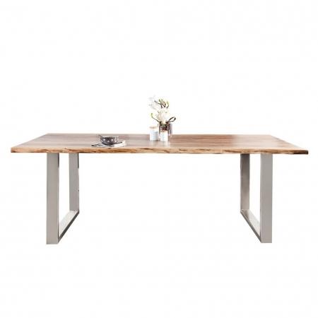 Esstisch AMBA Natur massiv Akazienholz 200cm & 35mm Tischplatte - 4