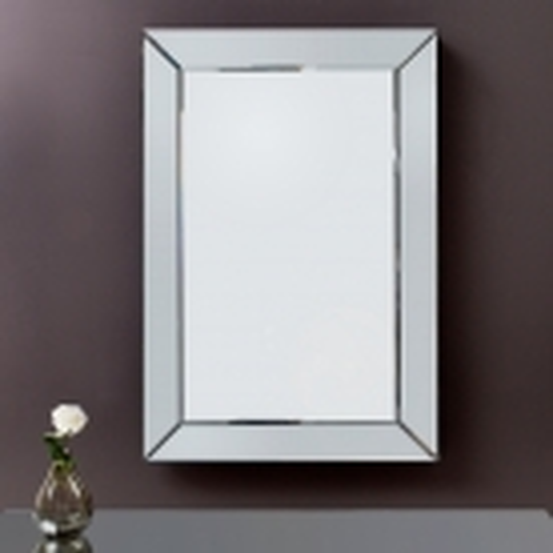 Eleganter Wandspiegel IMPRESSION mit Spiegelrahmen 90cm x 60cm | Vertikal oder horizontal aufhängbar! - 1