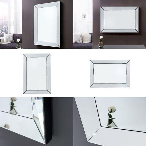 Eleganter Wandspiegel IMPRESSION mit Spiegelrahmen 90cm x 60cm | Vertikal oder horizontal aufhängbar! - 4