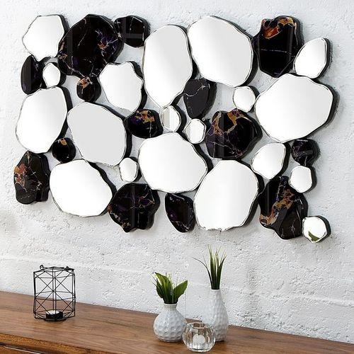 Außergewöhnlicher Wandspiegel TESSON in Marmor- & Scherben-Design 90cm x 55cm | Vertikal oder horizontal aufhängbar! - 1