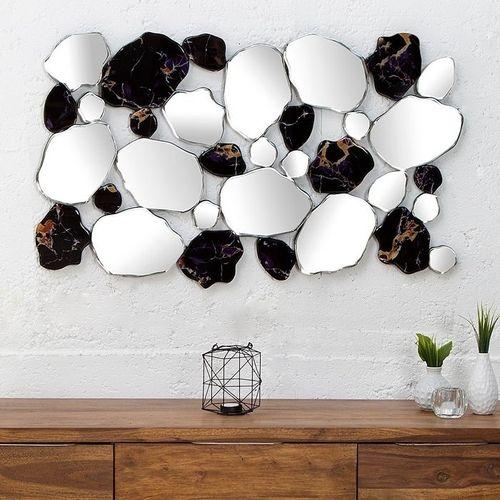 Außergewöhnlicher Wandspiegel TESSON in Marmor- & Scherben-Design 90cm x 55cm | Vertikal oder horizontal aufhängbar! - 2