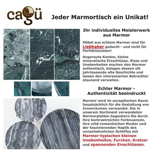 Couchtisch FLORENTIN Grau Marmor mit Silber Gestell 62cm Ø - 7