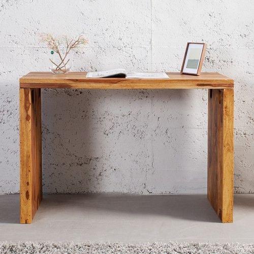 Schreibtisch SATNA Sheesham massiv Holz gewachst 100cm - 1