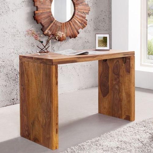 Schreibtisch SATNA Sheesham massiv Holz gewachst 100cm x 40cm - 2