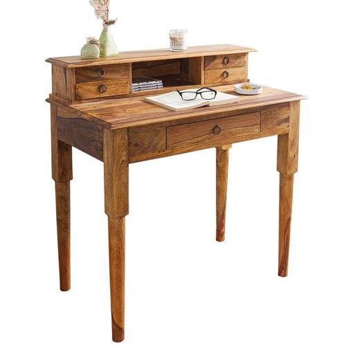 Sekretär & Schreibtisch SATNA Sheesham massiv Holz gewachst 90cm x 50cm - 2